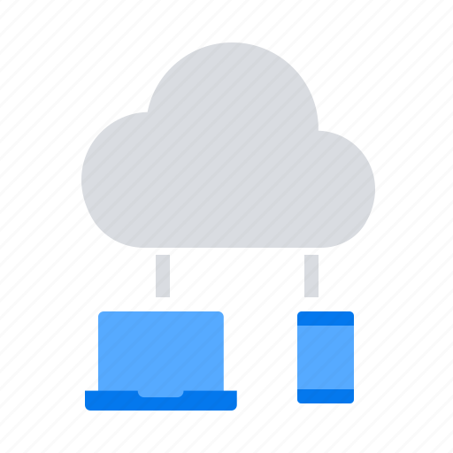 cloud computing, devices, sync icon