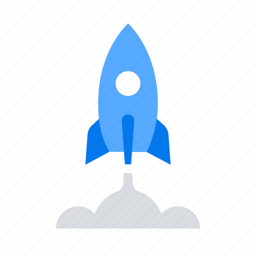 project launch, rocket, spaceship, startup icon