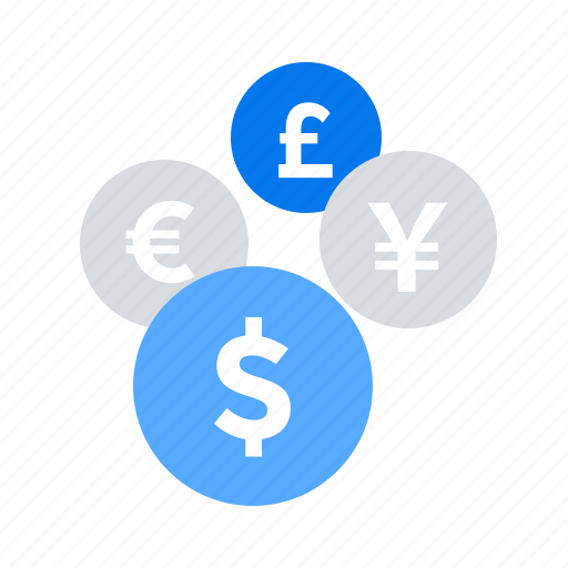 coins, conversion, currency, exchange, money icon