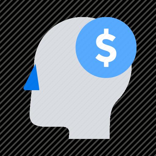 business idea, face, head, money icon