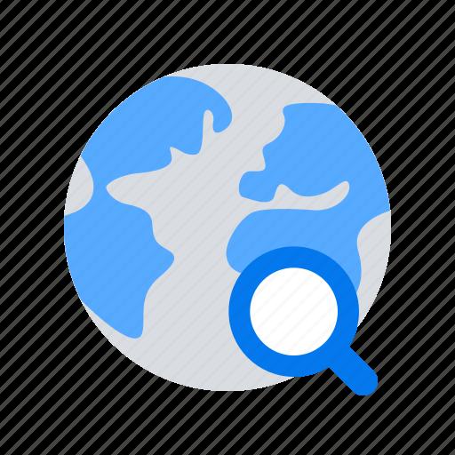 magnifier, search, web icon