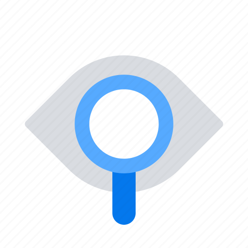 Eye, magnifier, vision icon - Download on Iconfinder