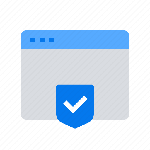 browser, page, protection, shield icon