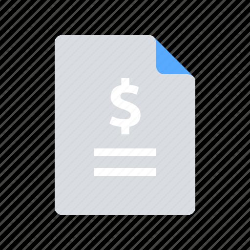 budget, invoice, sales report icon