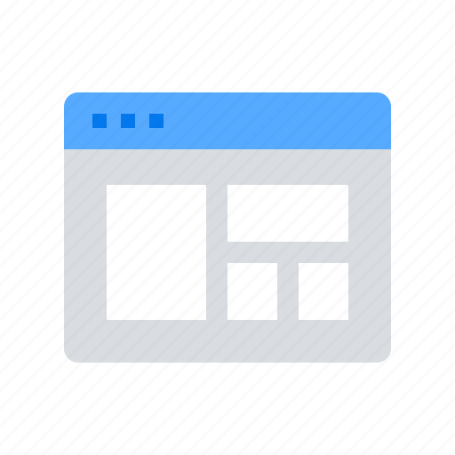 application, browser, layout, template icon