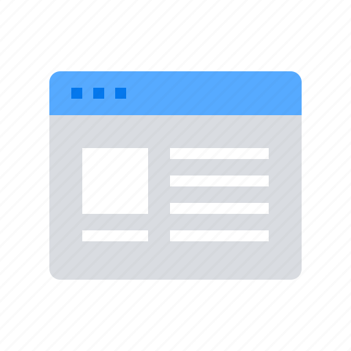 layout, template, website content icon
