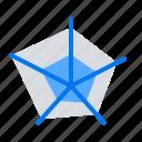 data, diagram, pentagon