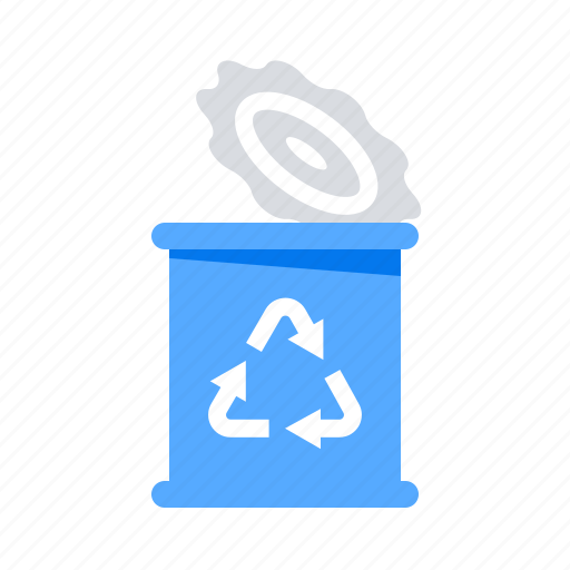 can, garbage, metal, recycled icon