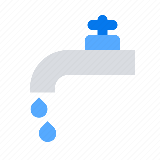 drop, leaking water, tap icon
