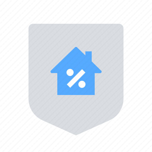 home loan, interest rate, shield icon