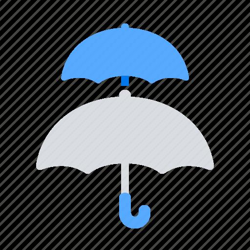 insurance, reinsurance, umbrella icon