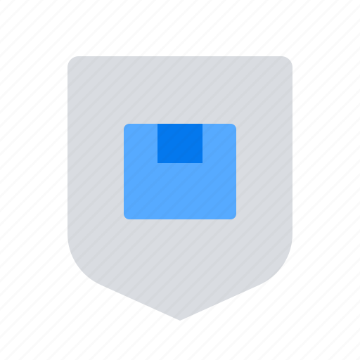 delivery, shield, shipping icon