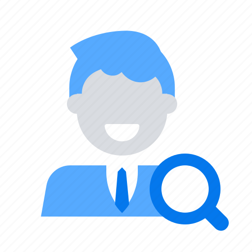 employee, search, user icon