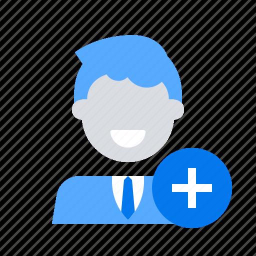 add, friend, user icon