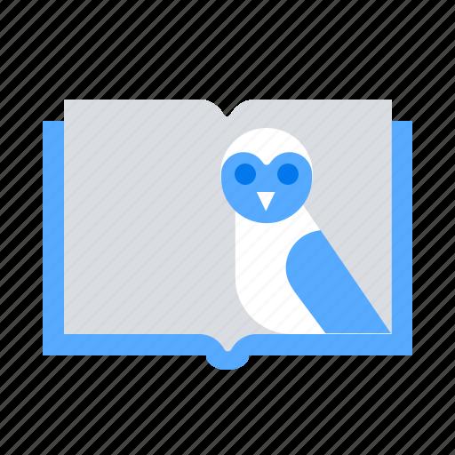 book, owl icon