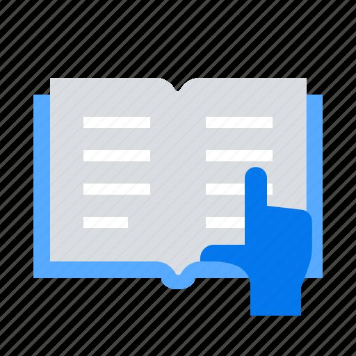book, open, reading icon