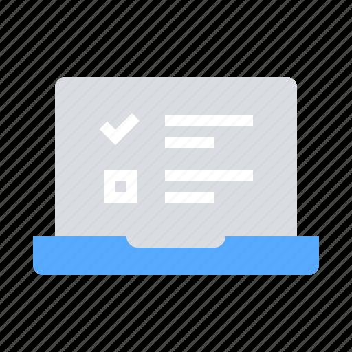 exam, online survey, questionnaire icon