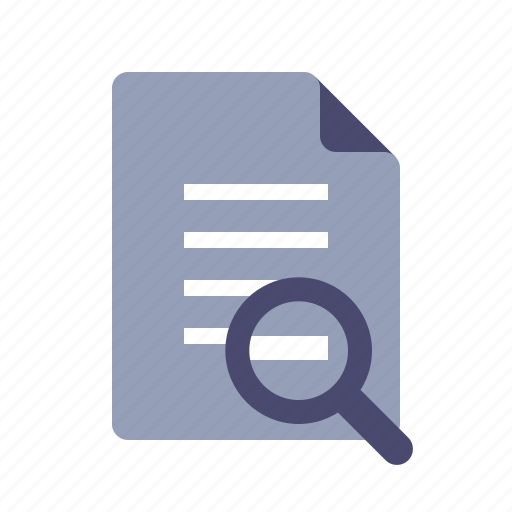audit, doc, document, search, text icon