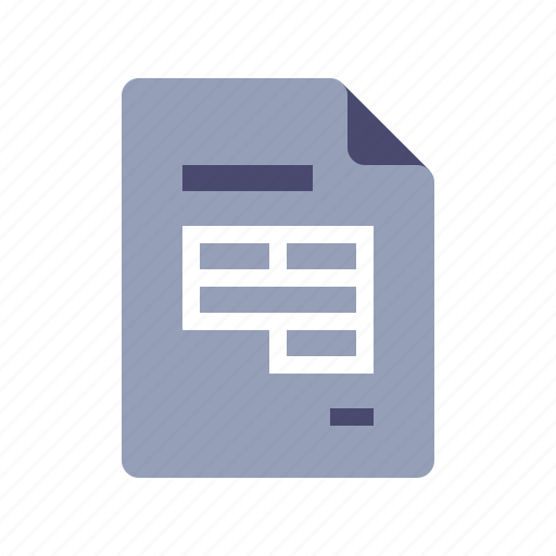 database, document, excel, file icon