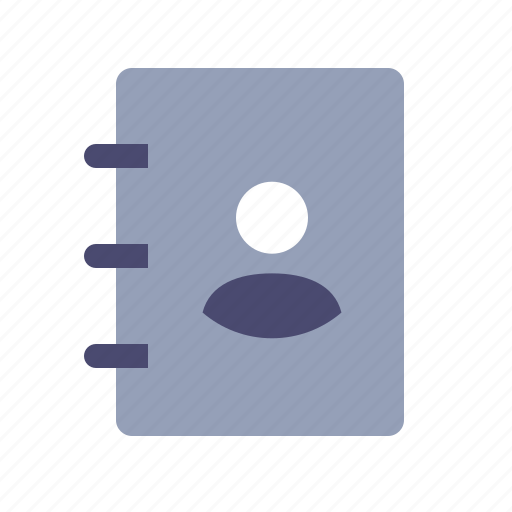 address, book, contact list, notebook icon