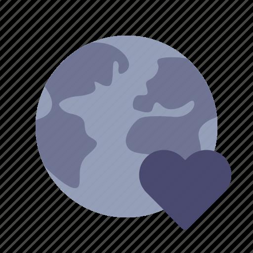 earth, favourite, heart, international icon