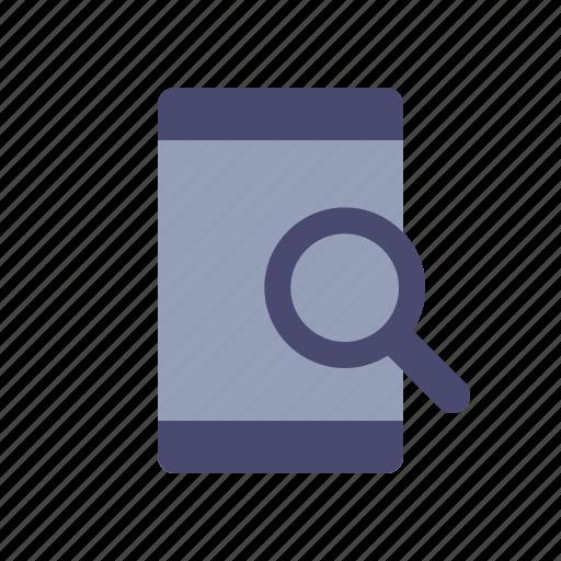 find, mobile, optimization, search icon