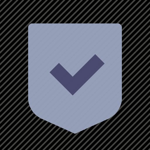 accept, brand, checkmark, shield icon