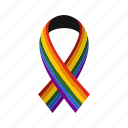 community, gay, homosexual, lesbian, lgbt, rainbow, ribbon icon
