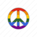 community, gay, homosexual, lesbian, lgbt, peace, rainbow icon