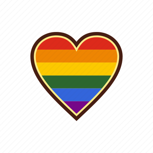 Community, gay, heart, homosexual, lesbian, lgbt, rainbow icon - Download on Iconfinder