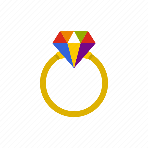 Lgbt, love, marriage, proposal, rainbow, ring, wedding icon - Download on Iconfinder