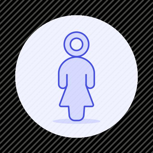 agender, avatar, lgbt, pride, rainbow, women icon