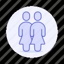 avatar, couple, female, gay, homosexual, lesbian, lgbt, partner, pride, rainbow, woman, women