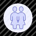 lgbt, women, gay, avatar, rainbow, female, woman, lesbian, couple, partner, homosexual, pride