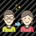 lgbt, gender, transition icon
