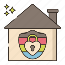 housing, lgbt, lock, protection icon