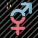 gender, intersex, sign icon