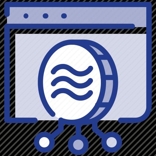 coin, digital, facebook, libra, libracoin, money, online shopping icon
