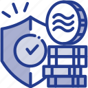coins, digital, facebook, libra, libracoin, money, security icon