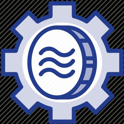 coin, digital, facebook, libra, libracoin, money, setting icon