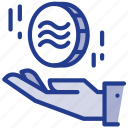 coin, digital, facebook, libra, libracoin, money, payment icon