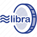 coin, digital, facebook, libra, libracoin, money icon