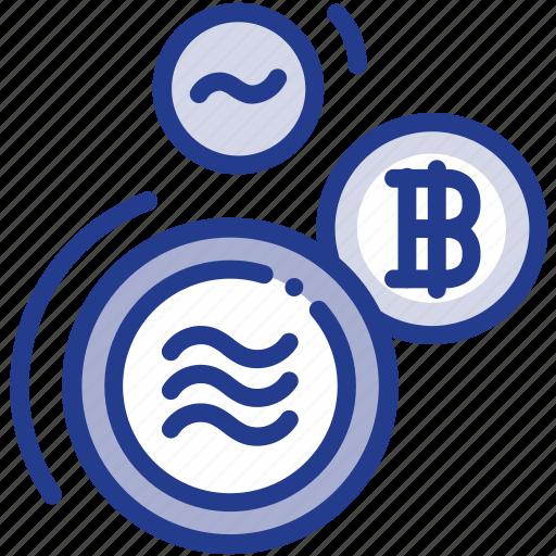 bitcoin, coin, digital, facebook, libra, libracoin, money icon