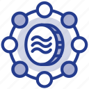 coin, digital, facebook, libra, libracoin, money, social network icon