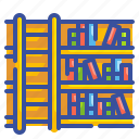 book, education, ladder, library, school, shelf, step icon