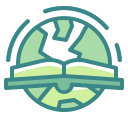 book, earth, education, library, online, world, worrldwide icon