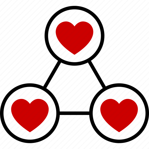 affair, love, polygamous, polygamy, relationship, threesome, triangle icon