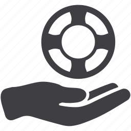 assist, information, lifebuoy, question, rescue icon