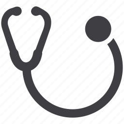 diagnosis, doctor equipment, equipment, medical, medical equipment, stethoscope, tool icon