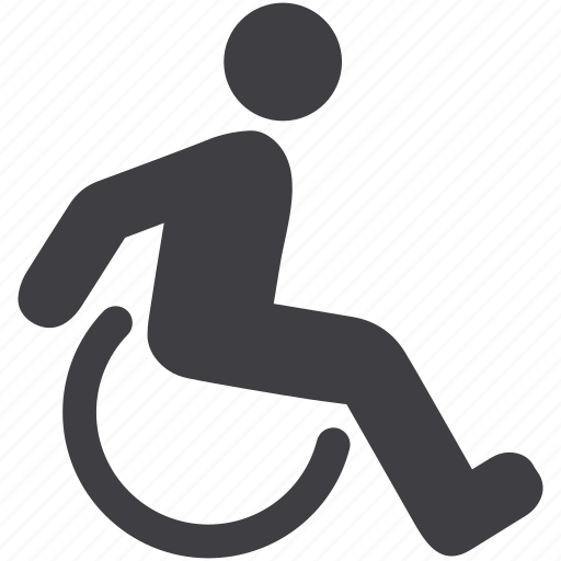 disability, disable, disabled, handicap, medical, patient, wheelchair icon